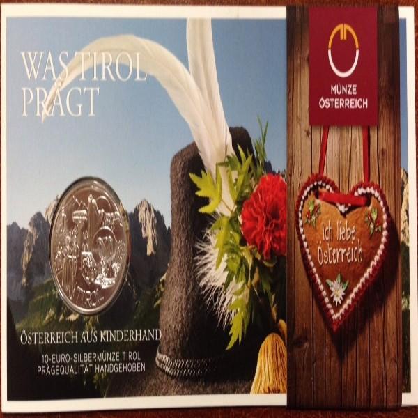 10 Euro Silber 2014 Tirol HgH ANK Nr. 26