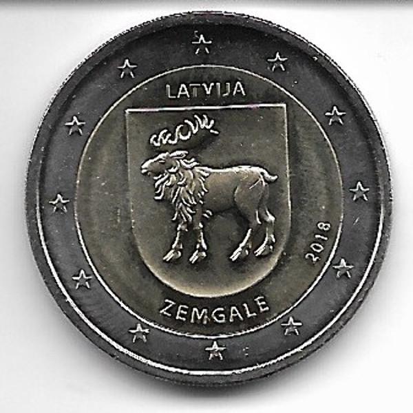 2 Euro Lettland 2018 Zemgale