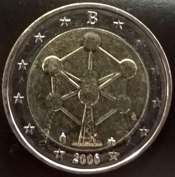 2 Euro Belgien 2006 Atomium