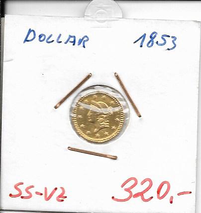 1 Dollar 1853 USA Gold
