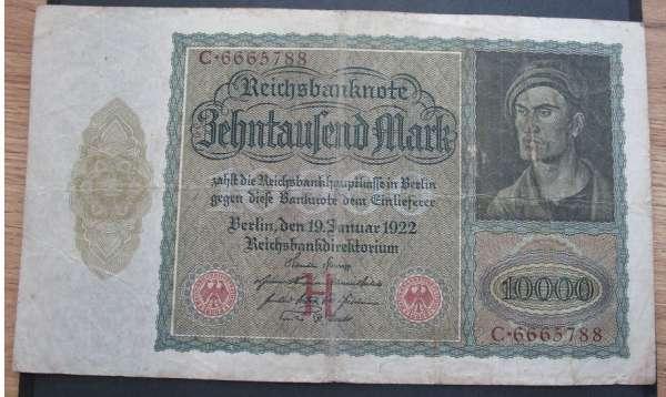 10 000 Mark 19.1.1922 Battenberg Deu-76 Nr. C.6665788