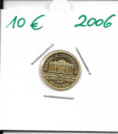 2006 Philharmoniker 1/10 Unze 10 € Euro 3,11 Gramm