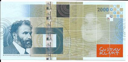 Gustav Klimt 2000 Spirale Austria OEBS0009935 UNC Original