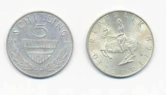 Wir kaufen an 5 Schilling 1960-68