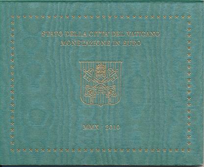 Kursmünzensatz Vatikan 2010 KMS Coinset nur leerer Blister