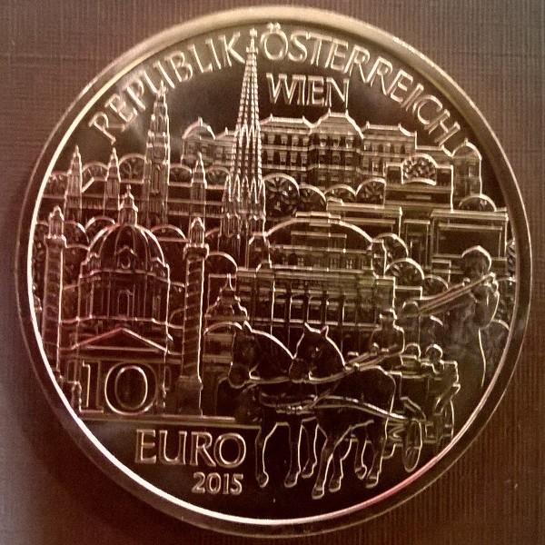 10 Euro 2015 Wien Kupfer ANK Nr. 27