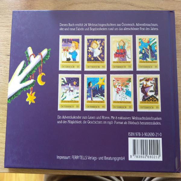 Weihnachtsgeschichten aus Österreich mit 8 exklusive Marken Briefmarkenbuch