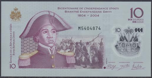 Haiti - 10 Gourdes 2013 UNC - Pick 279