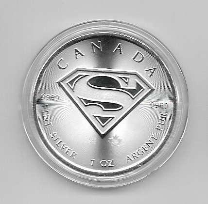 Kanada 5 Dollars 2016 Superman 1 Unze Silber Oz Canada