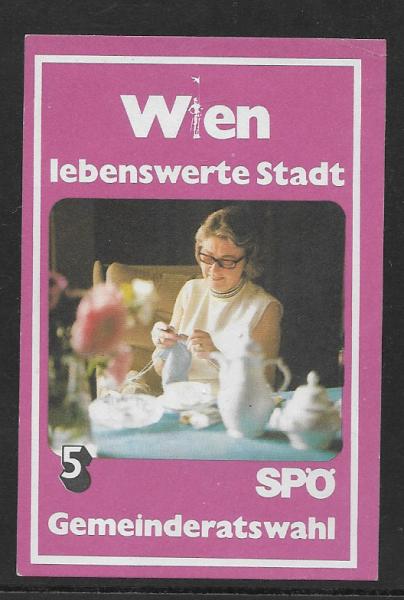 Parteispende SPÖ Wien Gemeinderatswahl 5 Schilling
