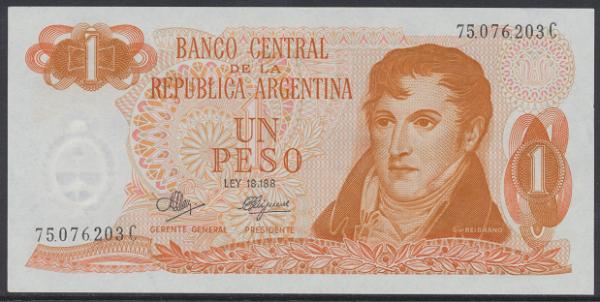 Argentinien – 1 Peso (1974) (Pick 293) Erh. UNC