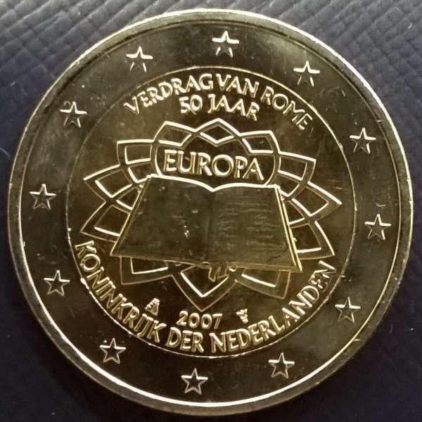 2 Euro Niederlande 2007 Römische Verträge