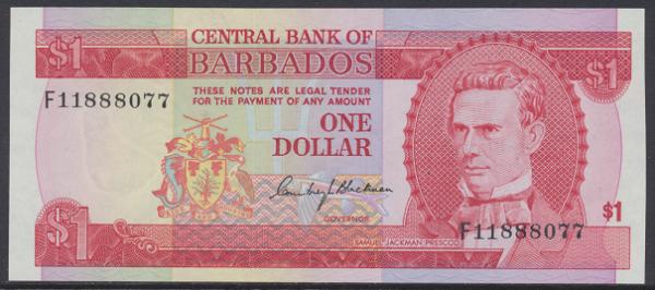 Barbados - 1 Dollar 1973 UNC - Pick 29