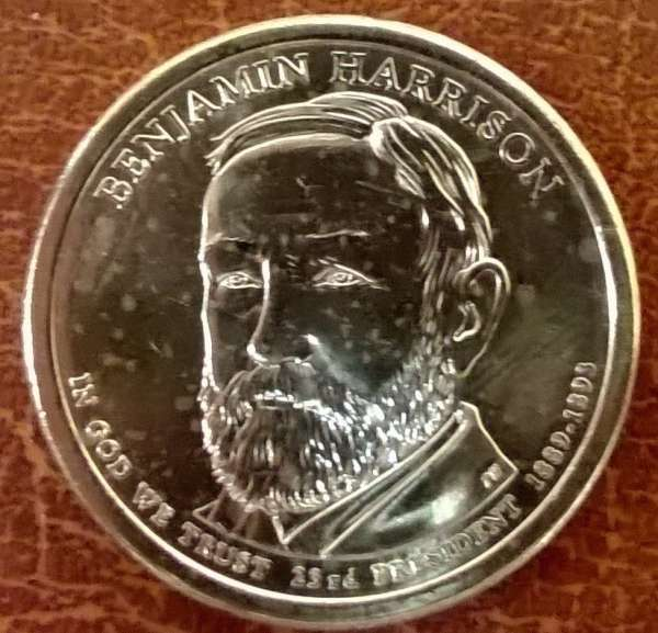 USA 1 Dollar 2012 D Benjamin Harrison (23)