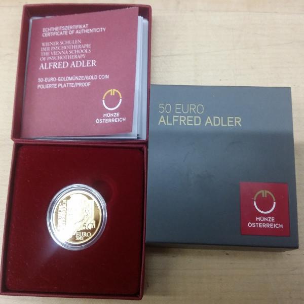 2018 50 Euro Gold Alfred Adler