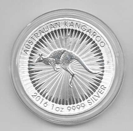 Australien 1 Dollar 2016 Kängaru 31,1g Silber Unze