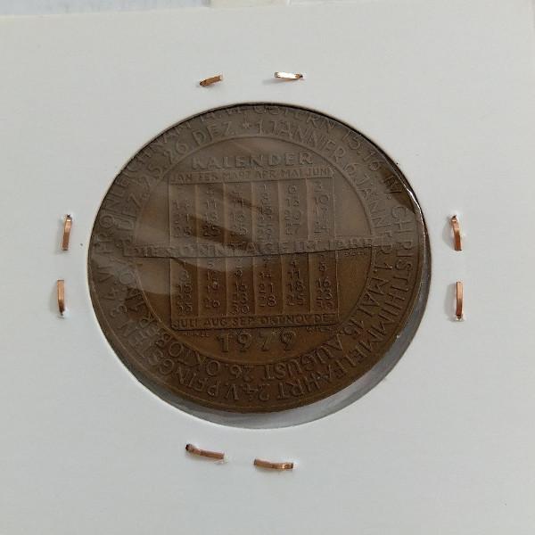 1979 Kalendermedaille Jahresregent Bronze