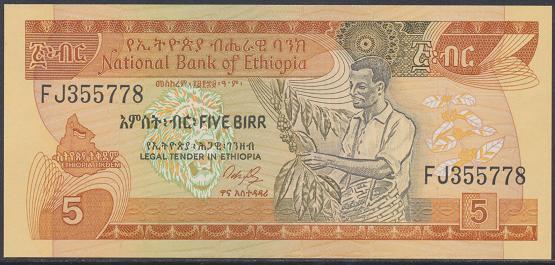 Äthiopien – 5 Birr () (Pick 42) Erh.