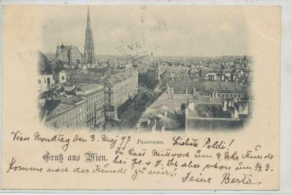 Gruß aus Wien Panorama 1897