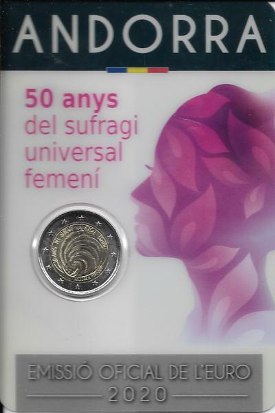 2 Euro Andorra 2020 50 Jahre Frauenwahlrecht