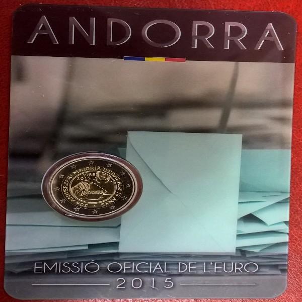 2 Euro Andorra 2015 Volljährigkeit