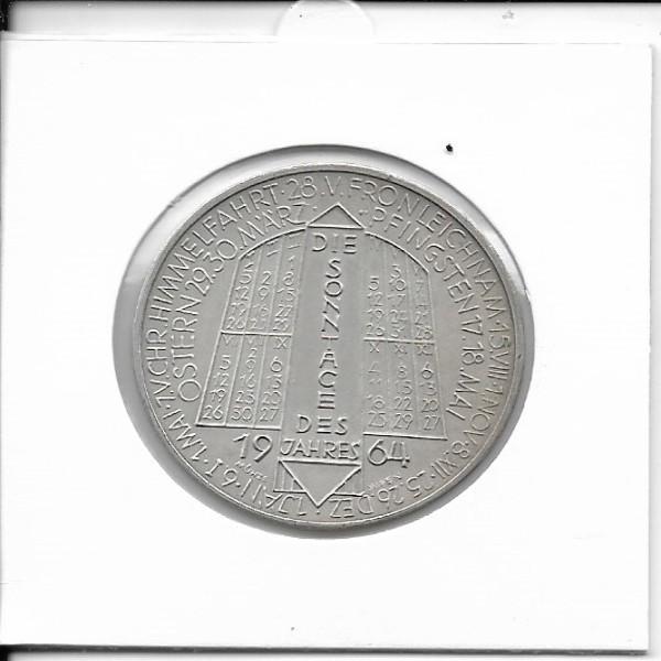 1964 Kalendermedaille Jahresregent Bronze versilbert
