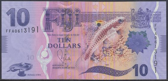 Fiji - 10 Dollars UNC - Pick 116