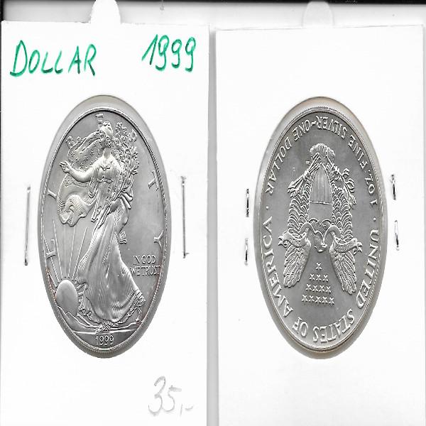 1 Dollar Silber Eagle Unze 1999