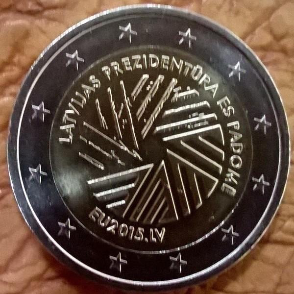 2 Euro Lettland 2015 EU-Präsidentschaft