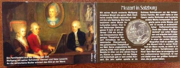 5 Euro Silber 2006 250 Geburtstag von Wolfgang Amadeus Mozart Salzburg ANK NRr. 8c