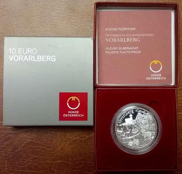 10 Euro Silber 2013 Vorarlberg PP ANK Nr. 24