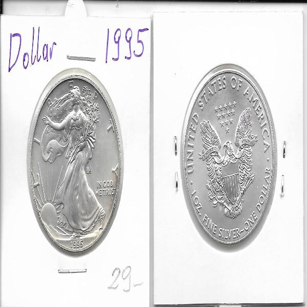1 Dollar Silber Eagle Unze 1995