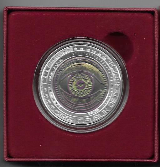 25 Euro Niob Silber 2020 Der Gläserne Mensch ANK Nr. 18 Niob 2020
