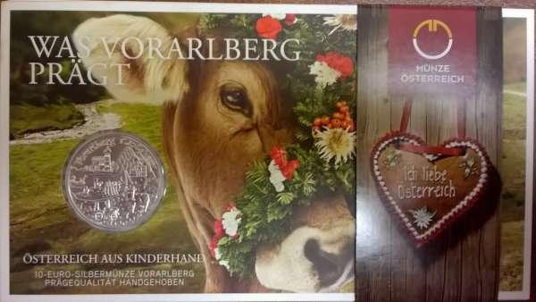 10 Euro Silber 2013 Vorarlberg HgH ANK Nr. 24