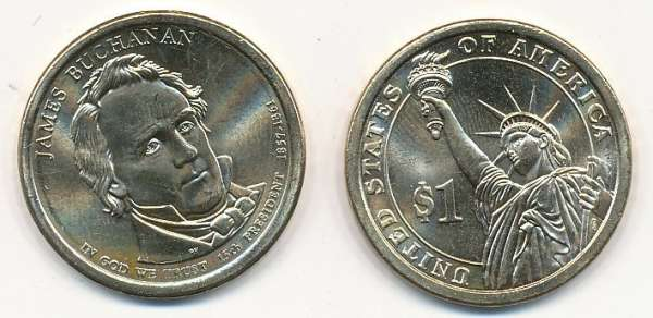 USA 1 Dollar 2010 D James Buchanan (15)