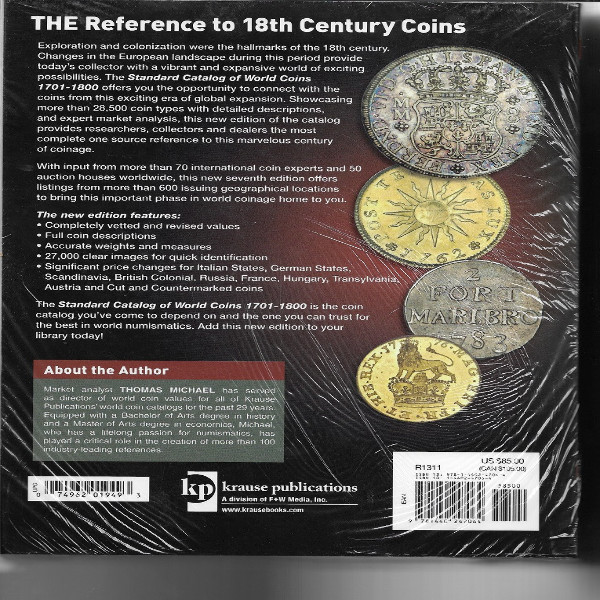 Standard Catalog of World Coins 1701-1800 7 th Edition