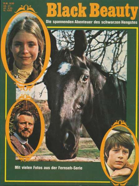 Black Beauty 1975 Album mit 3 Episoden in Buchform
