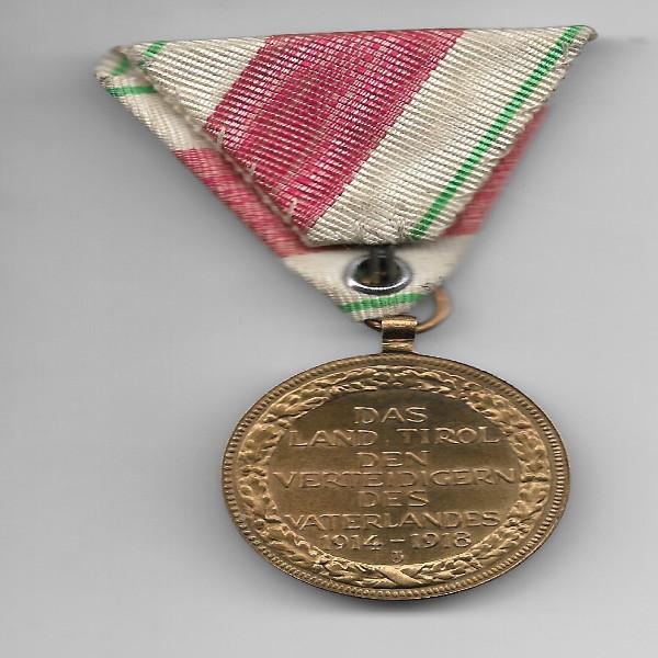 Österreich Das Land Tirol den Verteidigern des Vaterlandes 1914-18