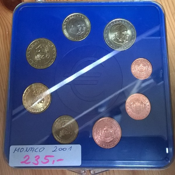 Monaco Kursmünzen Set 2001 Rainer lose