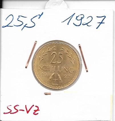 25 Schilling Gold 1927