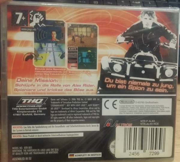 Nintendo DS StormbreakerAlex Rider Neuware