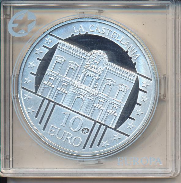 10 Euro Malta 2009 PP La Castellania - Europäisches Weltkulturerbe Silber Ag Europa Stern
