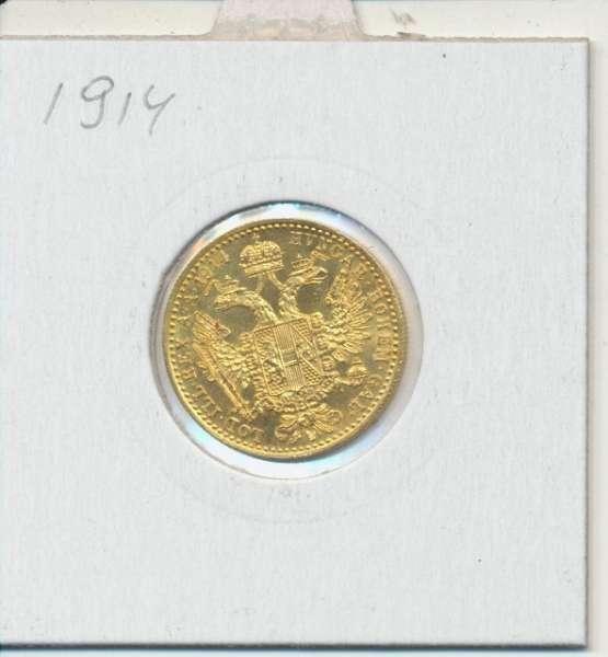 1 Dukaten 1914 Original Franz Joseph I