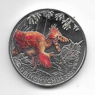 3 Euro Dino - Taler 2021 Deinonychus Antirrhopus Österreich