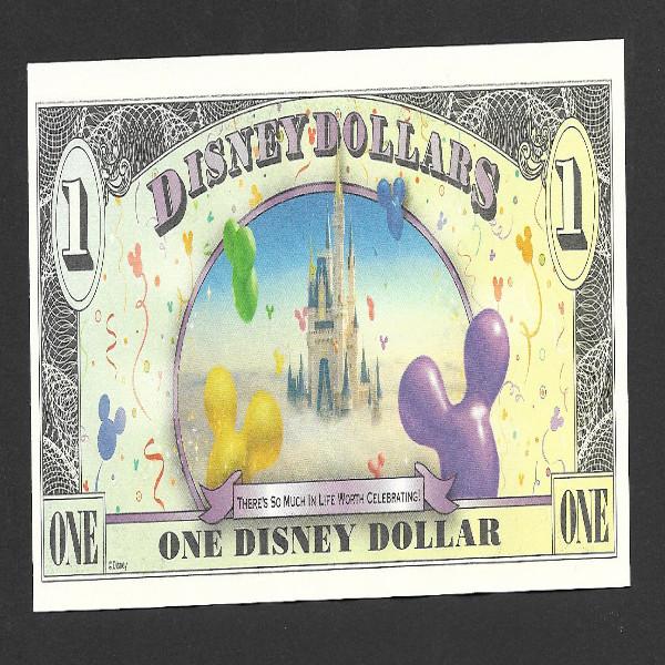 """1 Disney Dollar von 2009 """"MICKEY Celebrate you"""", neu unzirkuliert"""