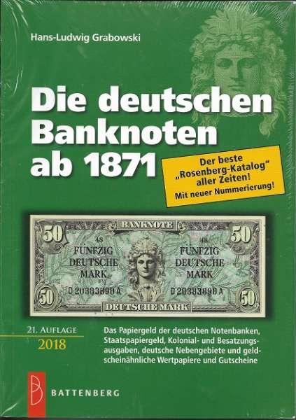 Die Deutschen Banknoten ab 1871 Rosenberg 21.Auflage