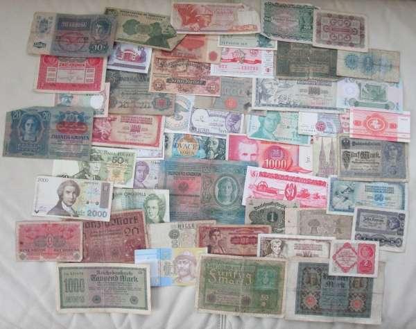 GELDSCHEINE Banknoten WELT 50 Stück gebraucht Lot 28032021/2