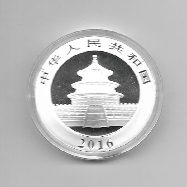 China 10 Yuan 2016 Panda 30g Silber
