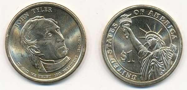 USA 1 Dollar 2009 D John Tyler (10)