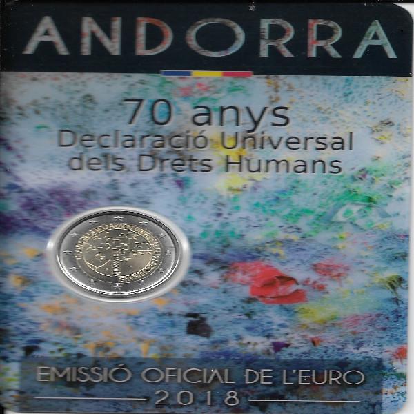2 Euro Andorra 2018 70 Jahre Menschenrechte
